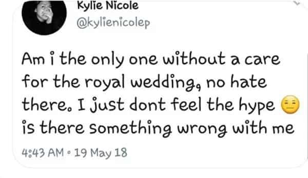 Kylie Padilla nega comment ang peg sa royal wedding ni Prince Harry at Meghan Markle