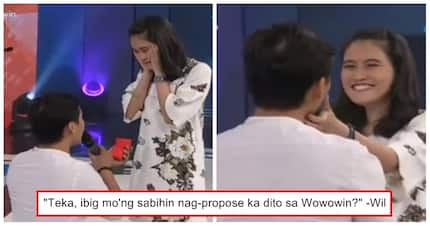 Nakaka-kilig naman! Man's sweet proposal to her girlfriend on 'Wowowin' touch netizens and viewers