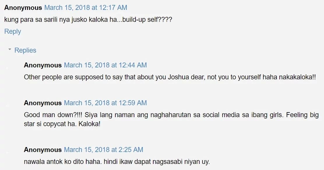 """Ang daming nainis! Joshua Garcia gets flak from netizens after posting cryptic tweet amid his alleged """"chat"""" with a female netizen"""