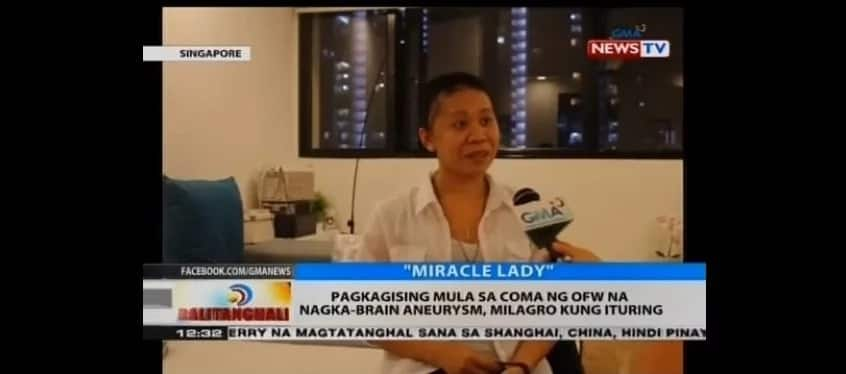 """Tinaguriang """"Miracle Lady""""! OFW in coma due to brain hemorrhage wakes up, saved by her Singaporean employers"""