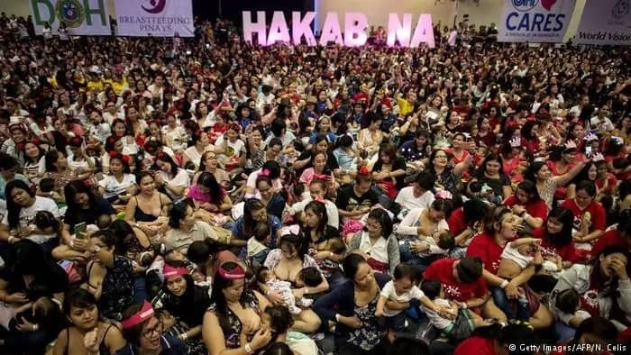 Moms unite! Philippines kicks off mass breastfeeding to promote early child health, prevent infant deaths
