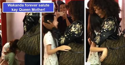 Sobrang nakakatuwa! Lea Salonga catches on video adorable moment daughter kneels before 'Queen' Angela Bassett giving the 'Wakanda forever' salute
