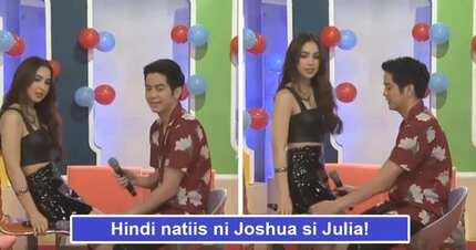 Tunay na gentleman! Joshua Garcia proves his worth by protecting Julia Barretto from possible wardrobe malfunction