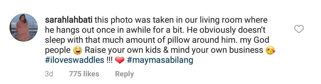 Wala daw kayong pake! Sarah Lahbati chides netizens for comments over her baby's picture