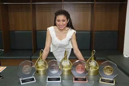 Pumakyaw ng tropeo! Morisette Amon wins 6 trophies in Wish 107.5 Music Awards
