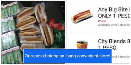 You can now get a one-peso hotdog from a convenience store!