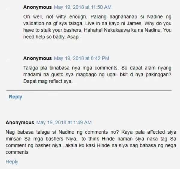 Nadine Lustre nagalit dahil imi-meet daw ni James Reid 'tunay na girlfriend' sa Cebu