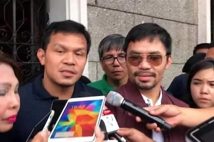 Manny Pacquiao supports his brother Bobby as he files for COC