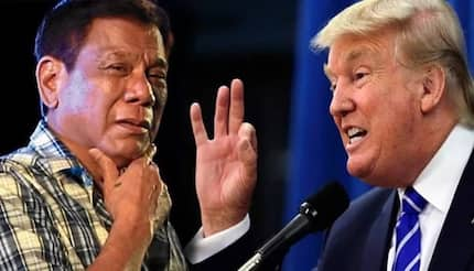 Napayuko ni Trump si Digong! Duterte vows to stop tirades against US because of Trump