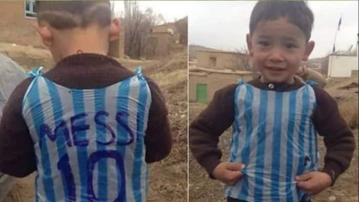 Lionel Messi Goes To Meet Little Afghan Boy Who Meet Messi's Shirt Out Of A Plastic Bag