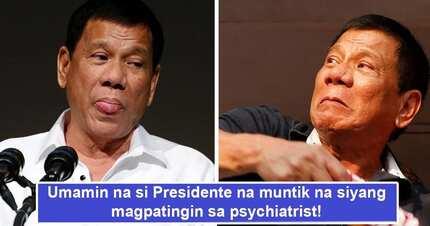 Umamin na siya! Pres. Duterte muntik nang magpasuri sa isang psychiatrist