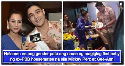 Dating PBB housemates Mickey Perz at Gee-Ann, nagkaroon ng bonggang baby gender reveal party