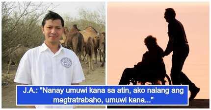 Anak ng oFw na nagtrabaho na rin abroad, pinauwi na ang inang matagal nang di nakabalik sa Pinas