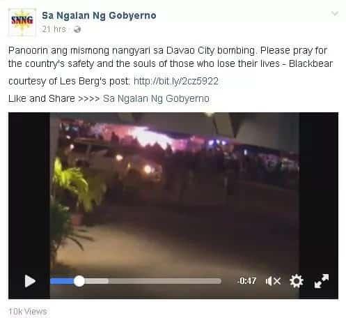 Davao bombing captured on video