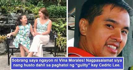 """Nag-react nang bongga! Vina Morales laking pasasalamat na hinatulan ng """"guilty"""" si Cedric Lee"""