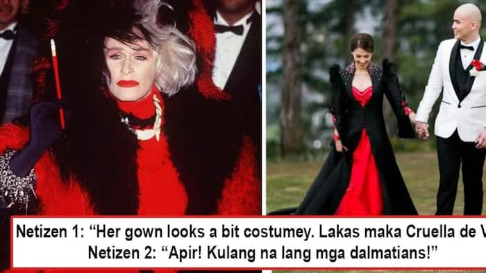 Parang costume daw ang gown! Netizens criticize Vaness del Moral's wedding gown as akin to the one used by Cruella de Vil in '101 Dalmatians'