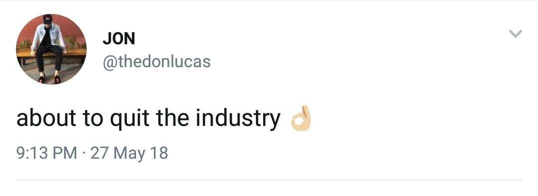Jon Lucas, na-bash ng netizens matapos mag-tweet ukol sa pagreretiro mula sa showbiz