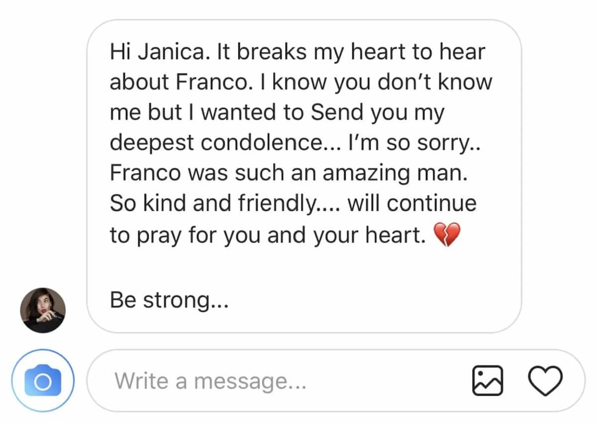 Janica Nam Floresca receives a touching message from Anne Curtis