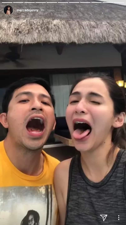 Iba din trip nilang dalawa! Dennis Trillo and Jennylyn Mercado try exotic chichaworm