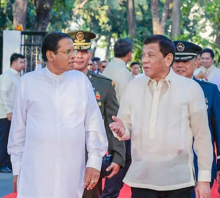 Pres. Duterte's drug war an 'example to the whole world', says Sri Lanka President