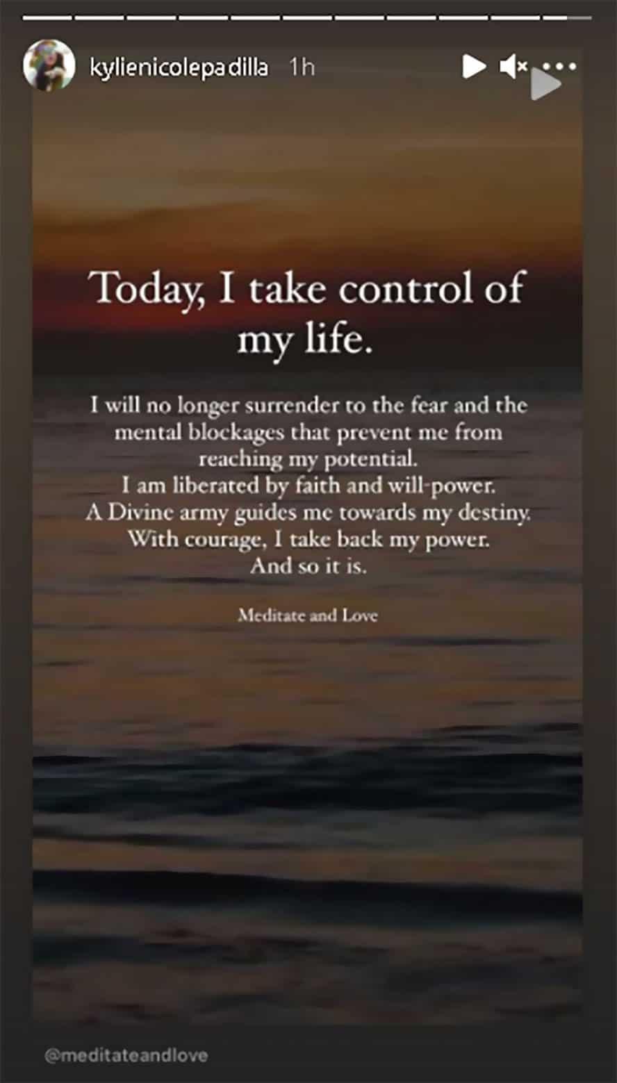 """Kylie Padilla, may madamdaming hugot sa panibagong post: """"Today, I take control of my life"""""""