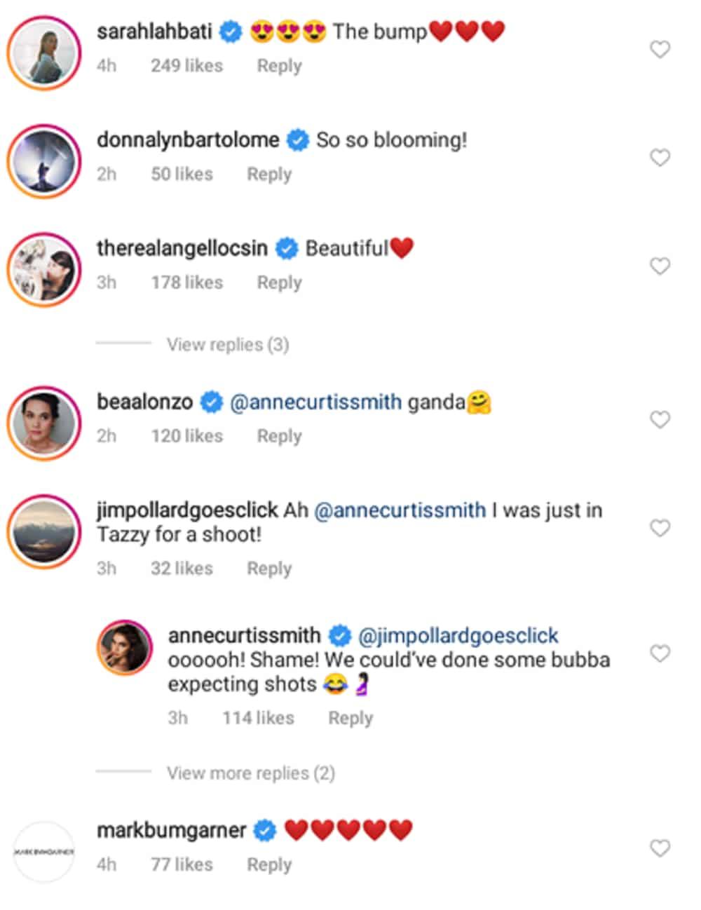Sarah Lahbati, Bea Alonzo, other celebs react to Anne Curtis' lovely photos