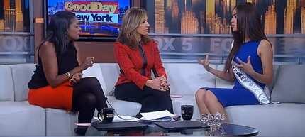Catriona Gray talks to Good Day New York hosts about boyfriend Clint Bondad