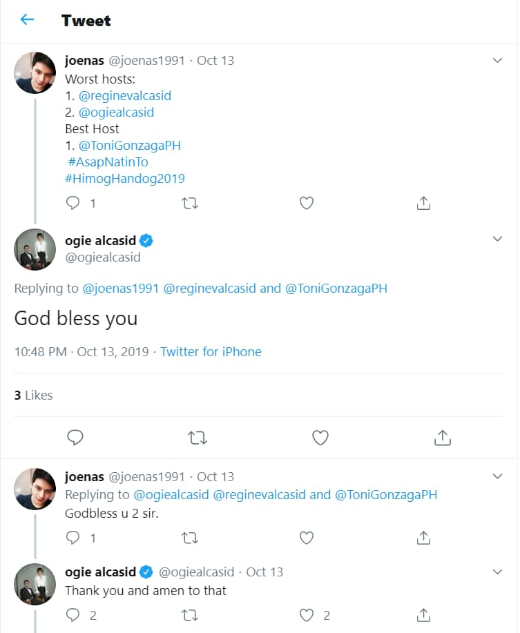 Ogie Alcasid responds to basher claiming him & Regine Velasquez are worst ASAP hosts
