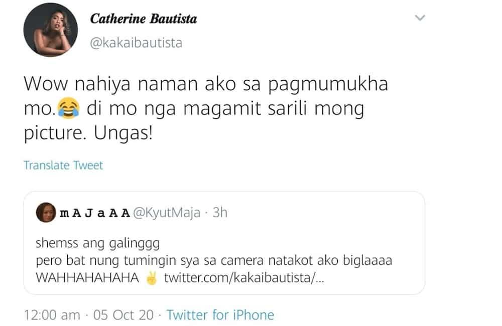 Kakai Bautista hits back at netizen who ridiculed her looks