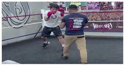 Like father, like son! Jimuel Pacquiao, nagpapakitang gilas na rin sa boxing