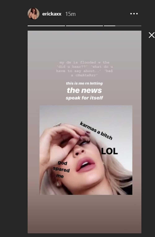 James Reid ex-girlfriend Ericka Villongco posts about 'karma' after JaDine breakup confirmation