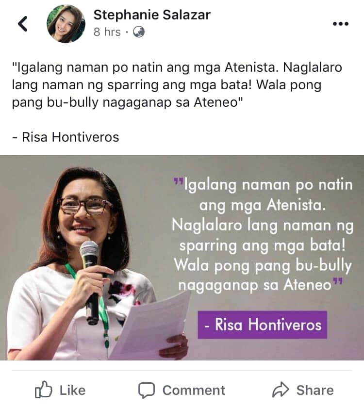Fact check: Did Hontiveros say Ateneo student was not bullying but 'practicing taekwondo'?