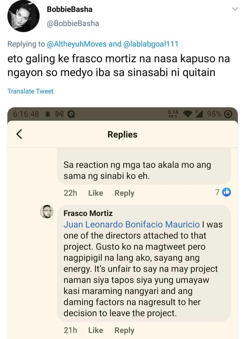 """Frasco Mortiz, tinawag na """"unfair"""" ang sabihing may project ang isang aktres pero inayawan lang"""
