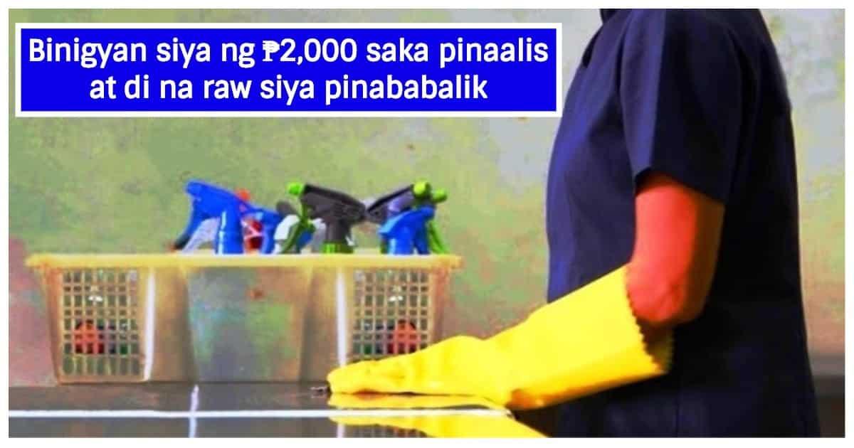 Kasambahay sa QC na may ubo at sipon, pinalayas agad ng amo