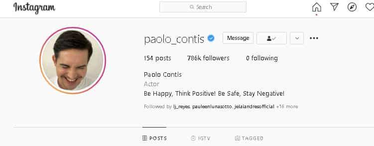 Paolo Contis, hindi na pina-follow si LJ Reyes; mga larawan nila ni LJ, wala na rin sa IG niya