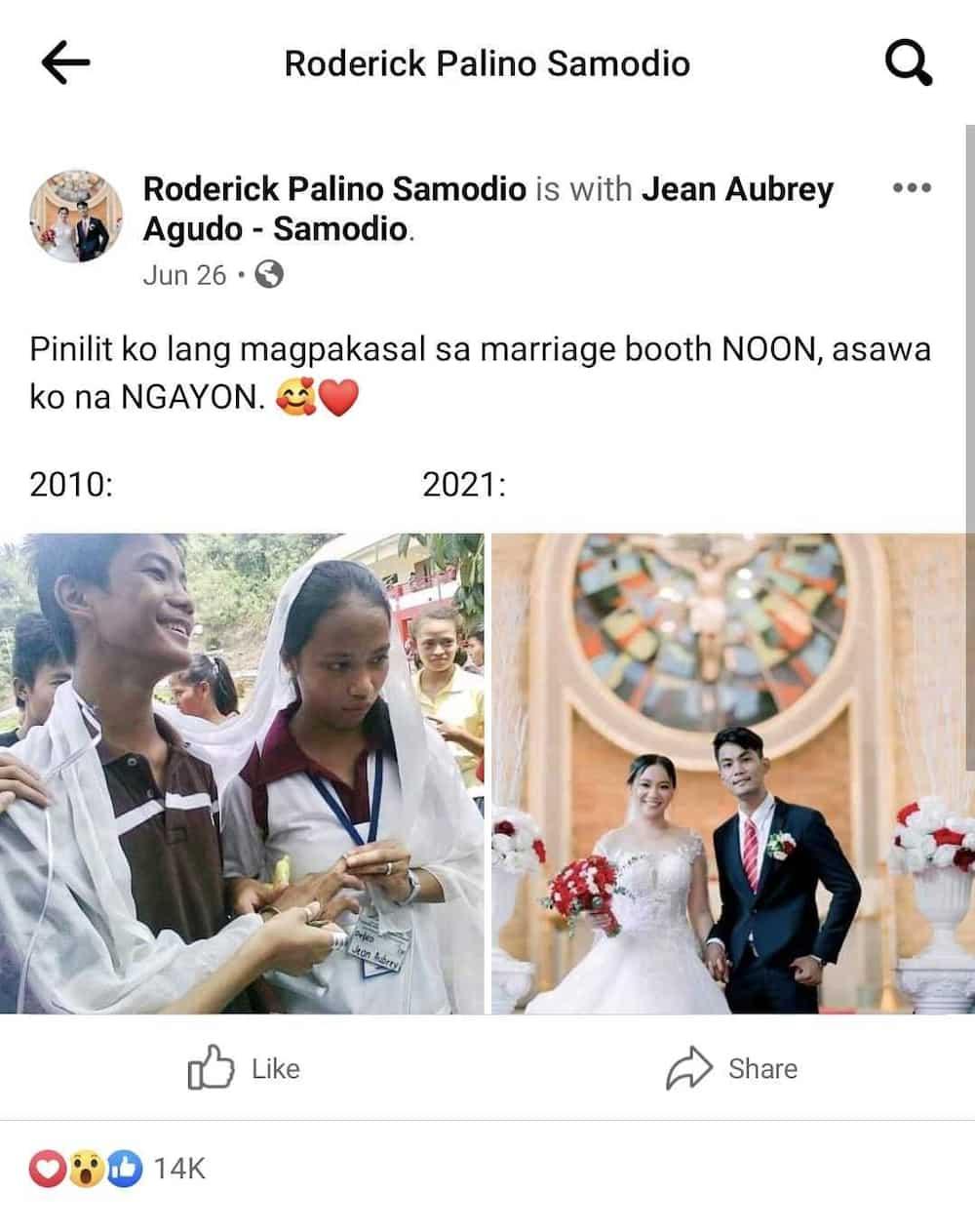 "Groom, pinakilig ang netizens sa kwentong ""marriage booth"" nila ni bride"