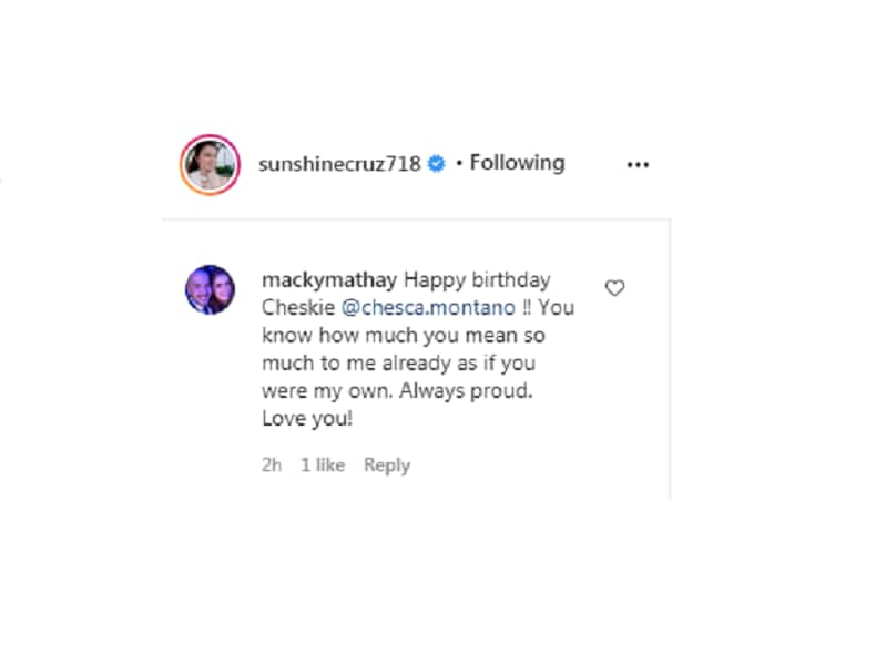 Sunshine Cruz pens heartfelt birthday message to her youngest daughter Chesca