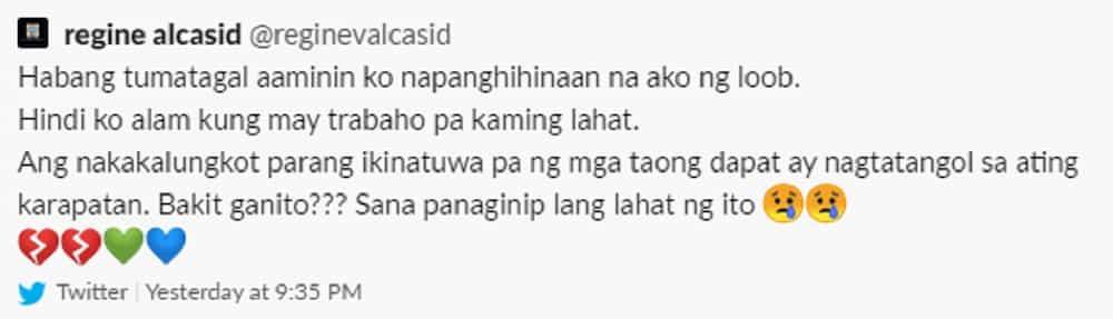 Regine Velasquez, aminadong takot mawalan ng trabaho matapos ipasara ang ABS-CBN