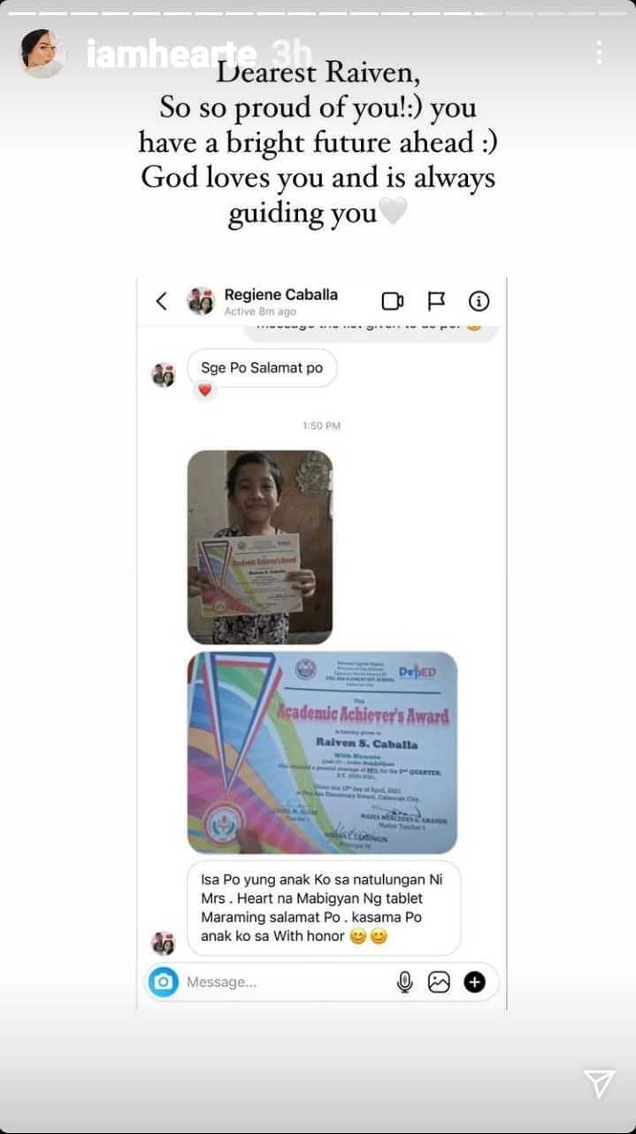 Heart Evangelista's tablet recipient becomes honor student; parent thanks actress