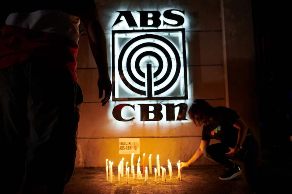 ABS-CBN compound after the shutdown order (Photo from Getty Images)