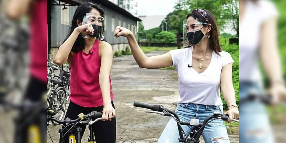 Catriona Gray, Gretchen Ho, team up, give 50 bicycles to Pasig residents