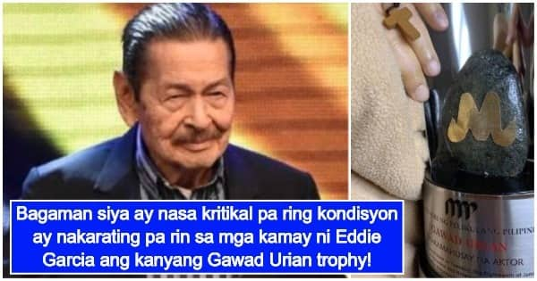 Photo of Eddie Garcia's hand with his Gawad Urian trophy circulates on social media