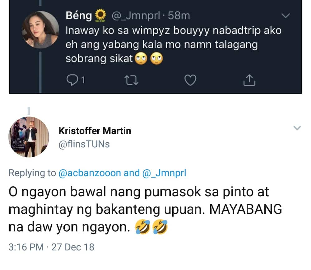 Kristoffer Martin gets into word war with Pinay who disrespected him at restaurant