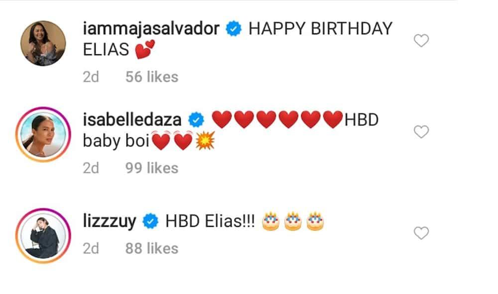 Maja Salvador, other celebs react to Ellen Adarna's post about baby Elias Modesto