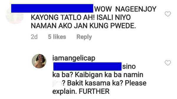 """Angelica Panganiban hits back at """"feeling close"""" comment of netizen"""