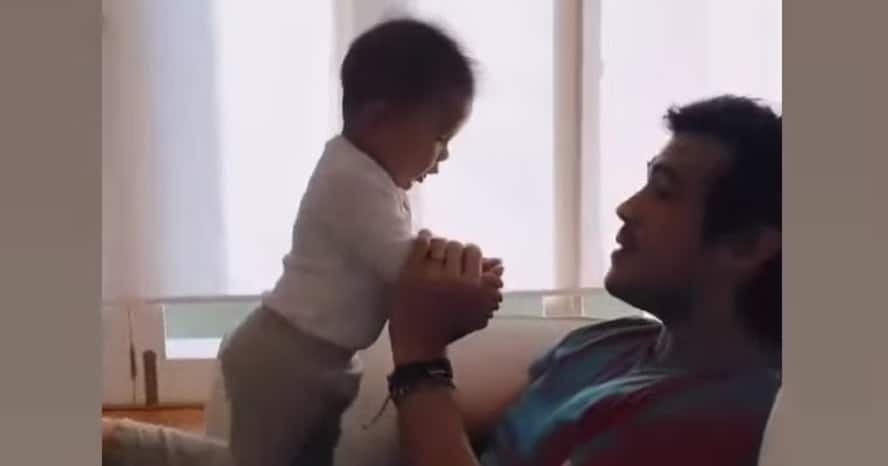 Erwan Heussaff posts about struggles of taking pictures of baby Dahlia Amélie