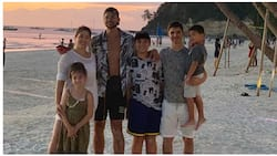 Kobe Paras welcomes 2020 with mom Jackie Forster and her family