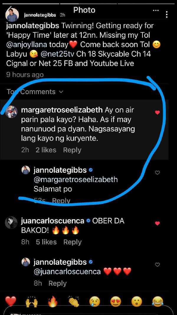 Janno Gibbs exposes basher with negative remark on 'Happy Time'