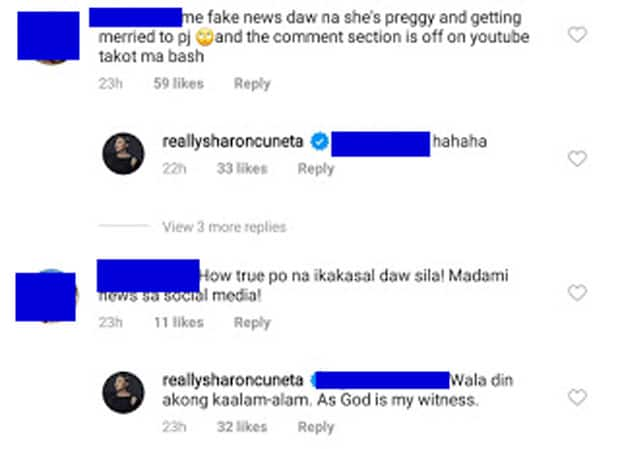 """Sharon Cuneta reacts to """"preggy"""" fake news circulating about KC Concepcion and Piolo Pascual"""