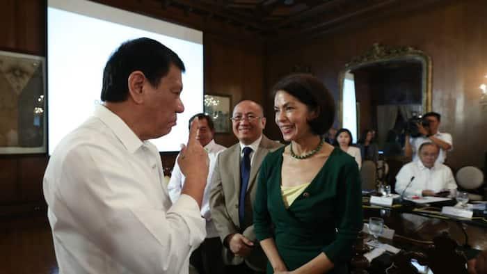 Pres. Duterte pays respect to his former DENR Sec. Gina Lopez
